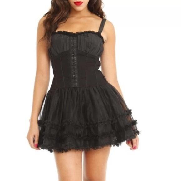 0fa8226d06e Royal Bones Black Corset Mini Dress With Tulle XL.  M_5bb1ccb0d6dc526e15754950